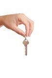 hand holdingen key modernt Royaltyfri Fotografi