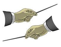 hand holdingen som pekar sticken Royaltyfri Fotografi