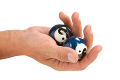 Hand holds a ball Royalty Free Stock Photography