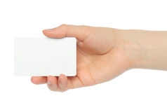 Hand holds charge card Royalty Free Stock Photo