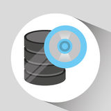 Hand holds data cd storage icon Royalty Free Stock Photo