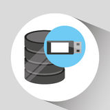 Hand holds data usb storage information icon Royalty Free Stock Image