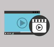 Hand holds digital player movie Royalty Free Stock Photography
