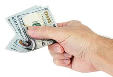 Hand holds dollars Royalty Free Stock Images