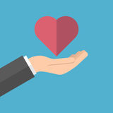 Hand holds heart Royalty Free Stock Photo