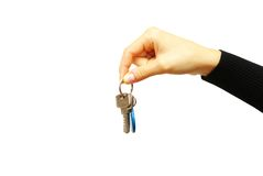 Hand holds a key Royalty Free Stock Image