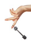 The hand holds a key from the house Royalty Free Stock Photos