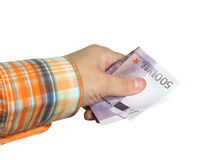 Hand holds money Royalty Free Stock Image