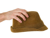 Hand and hat Stock Photography