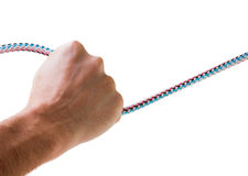 Hand holds the rope Stock Photos