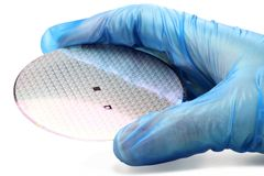 Silicon wafer Stock Photo