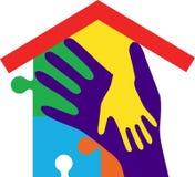 Hand home royalty free illustration