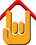 Hand home logo Royalty Free Stock Photography