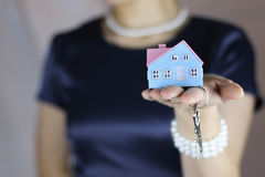 Hand house agent Stock Image