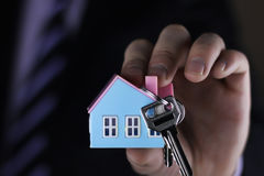Hand house agent Stock Photo
