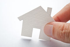 Hand with house. Royalty Free Stock Photography