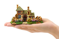 Hand and house Royalty Free Stock Image