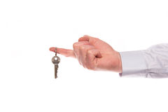 Hand with house key Stock Photos