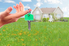 Hand with house key. Stock Photography
