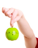 Hand of housewife showing apple timer Stock Images