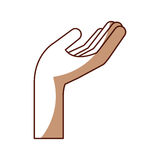 Hand human asking icon. Vector illustration design Stock Image