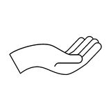 Hand human asking icon. Vector illustration design Royalty Free Stock Images