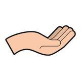 Hand human asking icon. Vector illustration design Royalty Free Stock Photos
