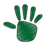 hand human ecology symbol Stock Photo