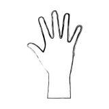 hand human ecology symbol Stock Image