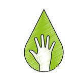 hand human ecology symbol Royalty Free Stock Photography