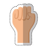 Hand human fist icon Royalty Free Stock Photography