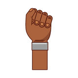 Hand human fist icon Stock Images