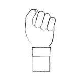 Hand human fist icon Stock Photo