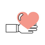 Hand human with heart love Stock Image