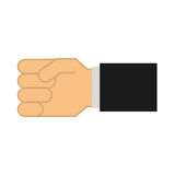 Hand human isolated icon Royalty Free Stock Photos