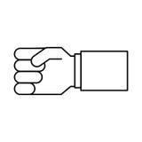 Hand human isolated icon Stock Image