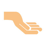 Hand human isolated icon Royalty Free Stock Image