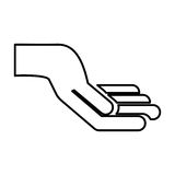 Hand human isolated icon Royalty Free Stock Images
