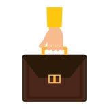 Hand human with portfolio. Vector illustration design Stock Image