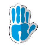 Hand human print isolated icon. Illustration design Stock Photo