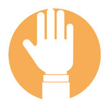 Hand human stop icon Stock Image