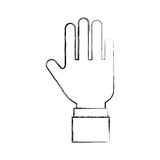 Hand human stop icon Stock Photo