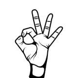 Hand human symbol isolated icon. Vector illustration design Stock Photo