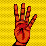 Hand human symbol isolated icon. Vector illustration design Stock Images