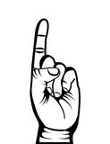 Hand human symbol isolated icon. Vector illustration design Stock Photos