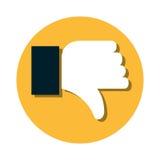 Hand human unlike icon. Illustration design Stock Photography