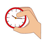 Hand human with watch. Vector illustration design Stock Photography