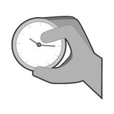 Hand human with watch. Vector illustration design Stock Image