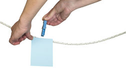 Hand that hung Photo templat Stock Image