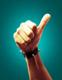 Hand Icon. With colorful background Stock Photography